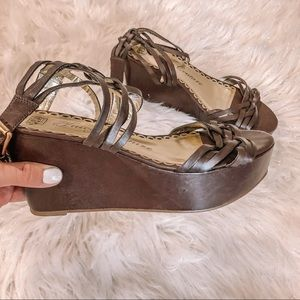 NWOT Juicy Couture Platform Wedge Sandal